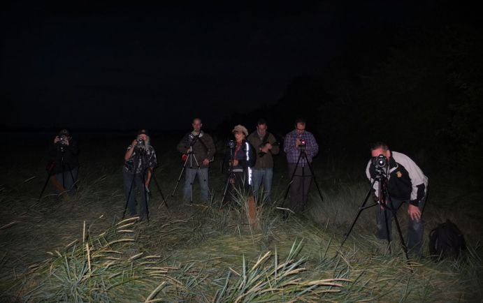 an image of reflex camera club members taking pictures at Purton Hulks
