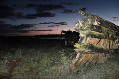 a picture of a decaying wooden ship hull at Purton Hulks, somerset by Myk garton with Reflex Camera Club